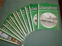 MOTOR SPORT 1959 Complete Less January issue